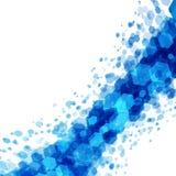 Abstrakta geometriska fyrkantlinjer blå bakgrund Royaltyfri Bild