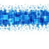 Abstrakta geometriska fyrkantlinjer blå bakgrund Royaltyfria Bilder