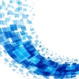 Abstrakta geometriska fyrkantlinjer blå bakgrund Arkivfoto