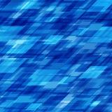 Abstrakta geometriska fyrkantlinjer blå bakgrund Royaltyfri Foto
