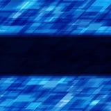 Abstrakta geometriska fyrkantlinjer blå bakgrund Royaltyfri Fotografi