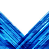 Abstrakta geometriska linjer blå bakgrund Arkivfoton
