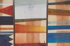 Abstrakta geometriska modeller på trä Royaltyfri Bild