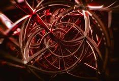 abstrakta geometriska spiral för exponeringsglas 3D royaltyfri illustrationer