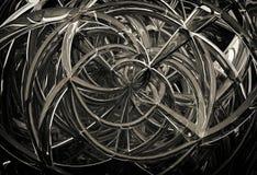 abstrakta geometriska spiral för exponeringsglas 3D vektor illustrationer