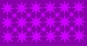 Abstrakta geometriska stjärnor som är wpattern med purpurfärgad bakgrund stock illustrationer