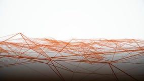 Abstrakta geometriska volymvågor på vit bakgrund Abstrakt mikro-kristall bakgrund vektor illustrationer