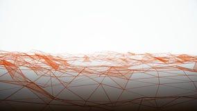 Abstrakta geometriska volymvågor på vit bakgrund Abstrakt mikro-kristall bakgrund stock illustrationer