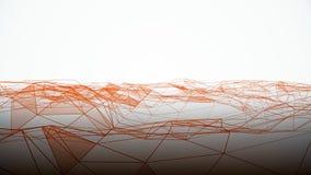 Abstrakta geometriska volymvågor på vit bakgrund Abstrakt mikro-kristall bakgrund royaltyfri illustrationer