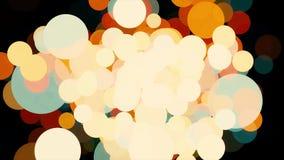 Abstrakta glänsande partiklar, ljus konfettieffekt på svart bakgrund djur Hisnande suddigt cirkelflyg royaltyfri illustrationer