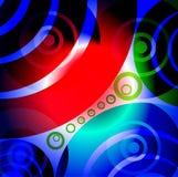 Abstrakta glödande cirklar Arkivfoto