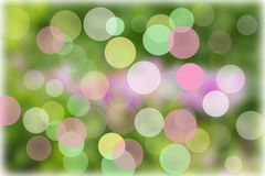 Abstrakta glödande cirklar på bakgrund Royaltyfria Foton