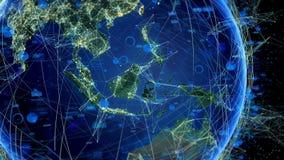 Abstrakta globala kommunikationer vektor illustrationer