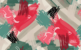Abstrakta grå färger för gräsplan för markör- och färgpulverslaglängder röda Royaltyfria Bilder