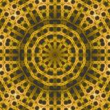 Abstrakta grå färger för gul gräsplan för prydnad för koncentrisk cirkel Arkivfoton