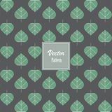 Abstrakta gröna fikusreligiosasidor eller sakrala trädsidor, vektormodellbakgrund vektor illustrationer