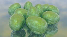 Abstrakta gröna främmande påskägg Stock Illustrationer