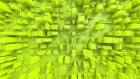 Abstrakta gröna kubikstadsstrukturer - som är bästa ner sikt royaltyfri fotografi