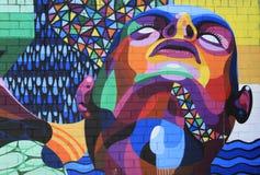 Abstrakta grafitti för regnbåge arkivfoton