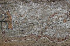Abstrakta grafitti för vägg Royaltyfri Foto