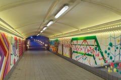 Abstrakta grafitti i gångtunnelen Royaltyfria Bilder
