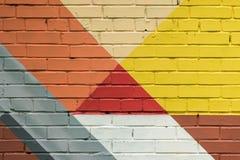 Abstrakta grafitti på väggen, mycket liten detalj Gatakonstnärbild, stilfull modell Kan vara användbart för bakgrunder Royaltyfria Bilder