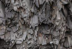 Abstrakta Gray Volcanic Rock Texture Background Arkivfoton