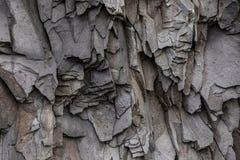 Abstrakta Gray Volcanic Rock Texture Background Royaltyfri Fotografi