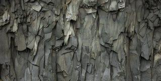 Abstrakta Gray Volcanic Rock Texture Background Fotografering för Bildbyråer