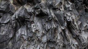 Abstrakta Gray Volcanic Rock Texture Background Royaltyfri Foto