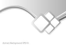 Abstrakta Grey Wave Background vektor illustrationer