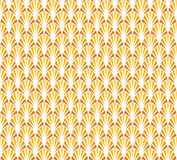 Abstrakta guld- Art Deco Seamless Background Geometrisk modell för fiskskala Arkivfoto