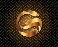 Abstrakta guld- Logo Vector Royaltyfri Fotografi