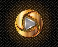 Abstrakta guld- Logo Vector Royaltyfri Foto