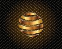 Abstrakta guld- Logo Vector Royaltyfria Bilder