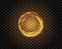 Abstrakta guld- Logo Vector Arkivfoto