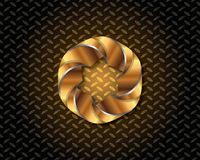 Abstrakta guld- Logo Vector Arkivbild