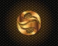 Abstrakta guld- Logo Vector Arkivbilder
