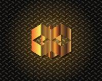 Abstrakta guld- Logo Vector Arkivfoton