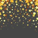 Abstrakta guld- stjärnor på Grey Background Arkivbild