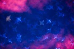 Abstrakta gwiazdowego bokeh błękita defocused światła fotografia royalty free