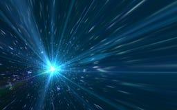 Abstrakta härliga den galaxbakgrunder och linsen blossar ljus Arkivfoton
