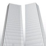 Abstrakta h?ga byggnader vektor illustrationer