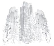 Abstrakta h?ga byggnader royaltyfri illustrationer
