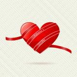 Abstrakta hjärtavalentin dag stock illustrationer
