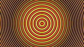Abstrakta hypnotisera cirklar zoomar ändlös bakgrund royaltyfri illustrationer