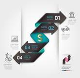 Abstrakta infographics finansowy strzałkowaty szablon. Zdjęcie Stock