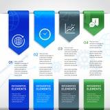 Abstrakta infographics papierowi biznesowi elementy Zdjęcia Stock