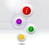 Abstrakta informationsdiagrammallar Royaltyfri Bild
