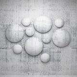 Abstrakta inredetaljer för arkitektur 3d stock illustrationer